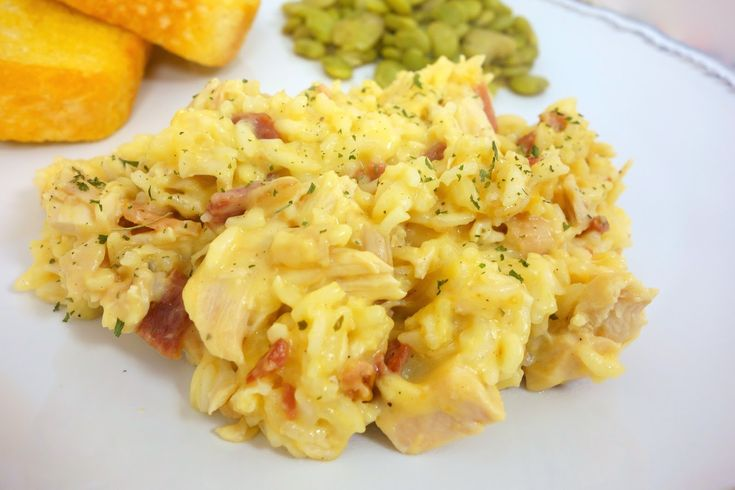 Cracked Out Chicken and Rice - easy baked dish with chicken, rice, cheddar, Ranch and bacon!