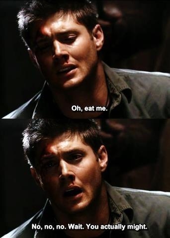 Ha ha ha! That's the Dean I love! Benders.