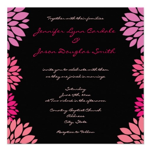 51 Best Pink And Black Wedding Invitations Images On Pinterest