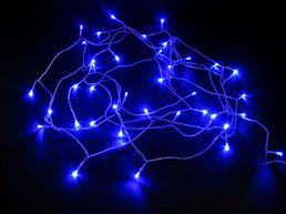 LED-ulkovalosarja, 40 lamppua, sininen, IP44