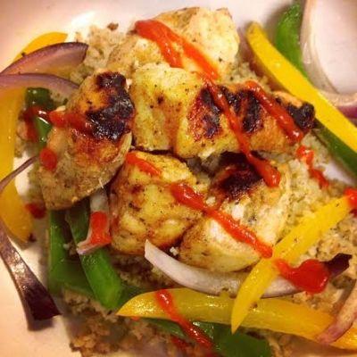 Ripped Recipes - Fajita Chicken W/ Cauliflower Rice - Super tasty dinner, even better leftovers!