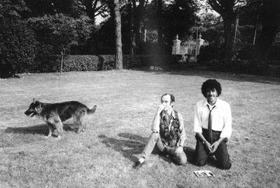 BP Fallon and Phil Lynott at 'Glen Corr', Howth, Dublin by Caroline Lynott  in 1982
