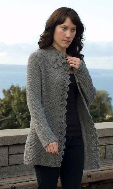 Climbing Lace Cardigan Free Knit Pattern
