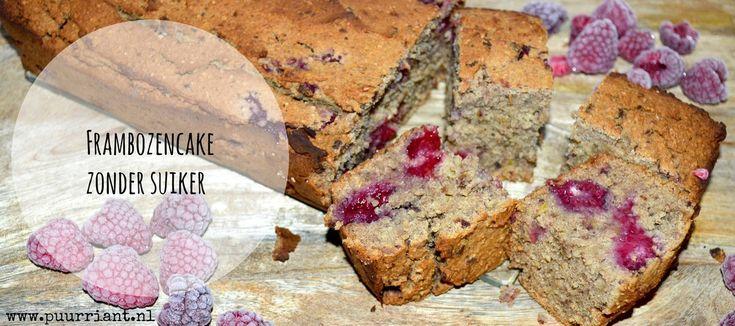 Recept voor suikervrije frambozencake met als basis witte bonen.