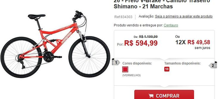 Bicicleta Mongoose Full Edge Aro 26 Freio V-Brake Câmbio Traseiro Shimano 21 Marchas << R$ 59499 em 12 vezes >>