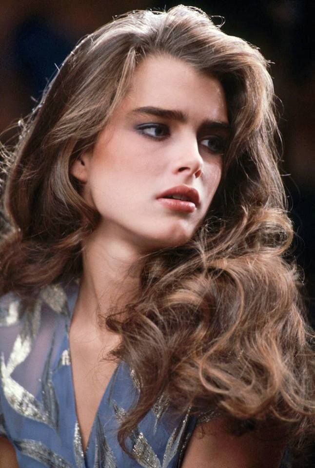 1980 US Vogue beauty Brooke Shields is our #HairHero for her luscious locks
