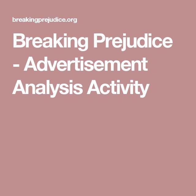 Breaking Prejudice - Advertisement Analysis Activity