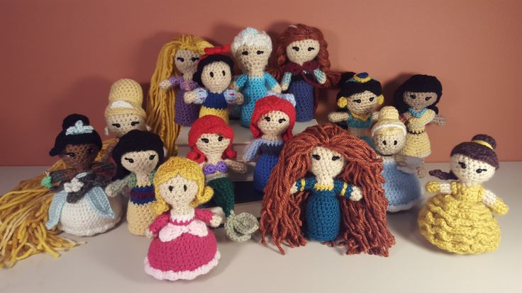 Disney Princesses!  - Free patterns from Two Hearts Crochet!