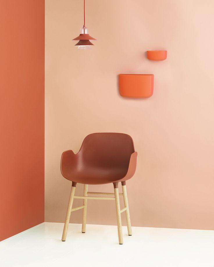 Warming orange tones   Form Armchair