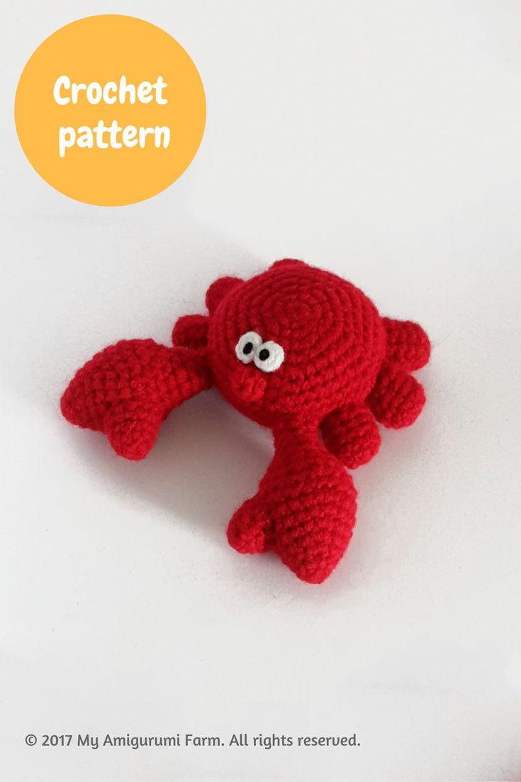Crochet crab amigurumi pattern