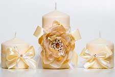 Свадебный комплект свечей