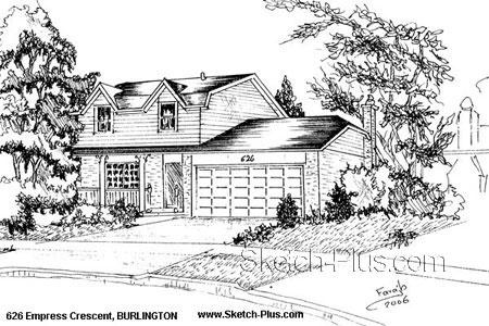 Sketch of House: 626 Empress Crescent, BURLINGTON