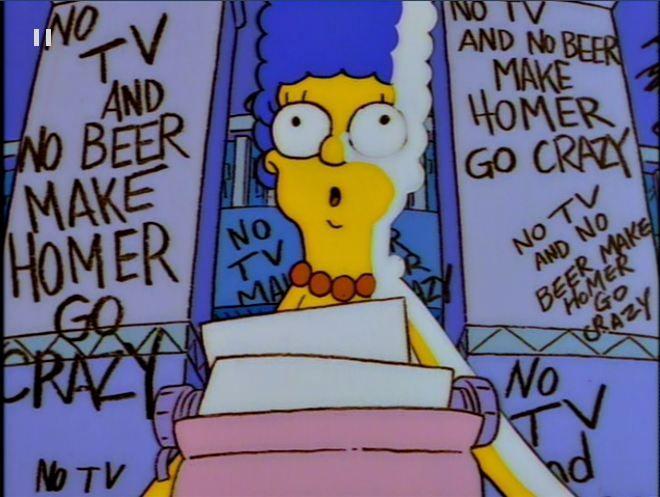 No TV and No Beer Make Homer Go Crazy