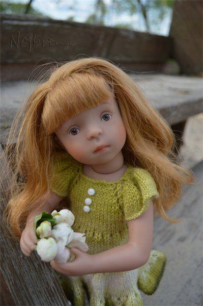 Лина с ведерком или до дня рождения еще далеко. Лина от Kathe Kruse / Sylvia Natterer, Сильвия Наттерер. Коллекционно-игровые куклы / Бэйбики. Куклы фото. Одежда для кукол