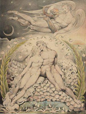 L'amour d'Adam et Ève, par William Blake