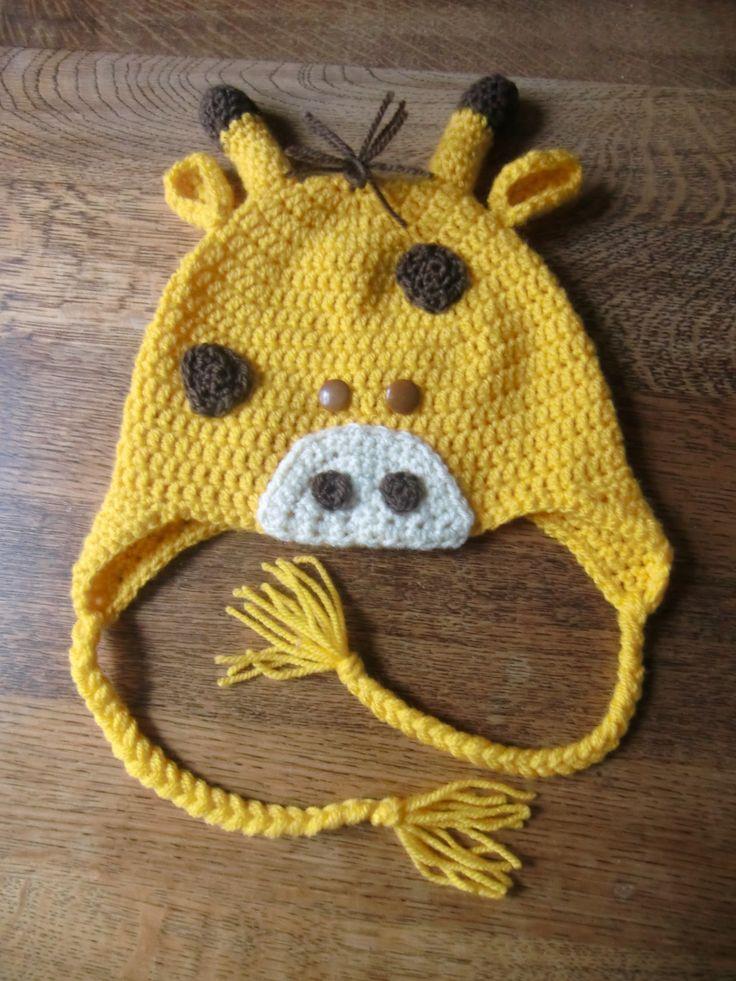 Giraffe gehaakt naar een patroon van Crochet-repeat crafter me.