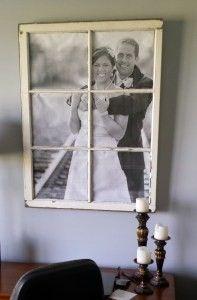 DIY Window Pane Picture Frame