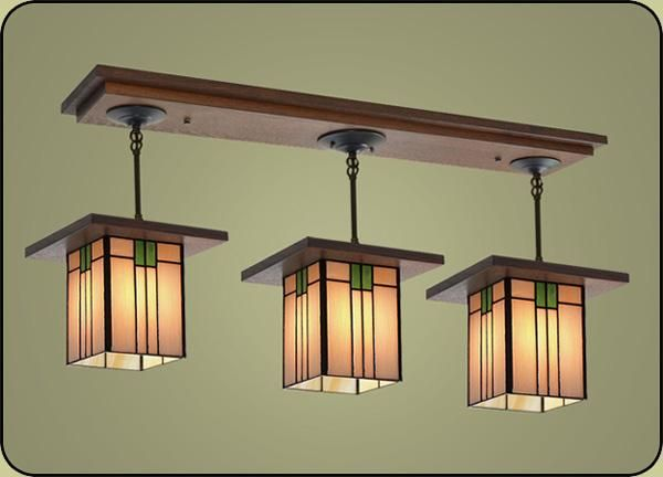 Frank Lloyd Wright, Craftsman style light for dinette