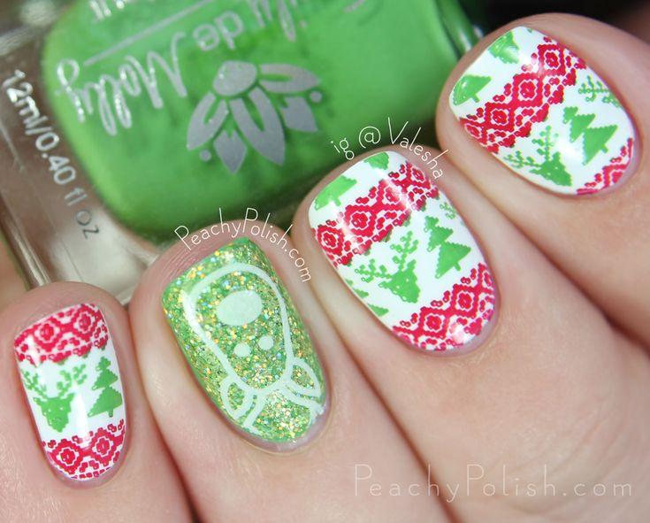 Único Uñas Cortas Navidad Componente - Ideas de Pintar de Uñas ...