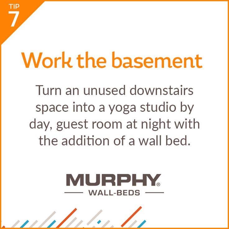 From unused basements to lonely lofts, a Murphy Bed can make one room function as two!
