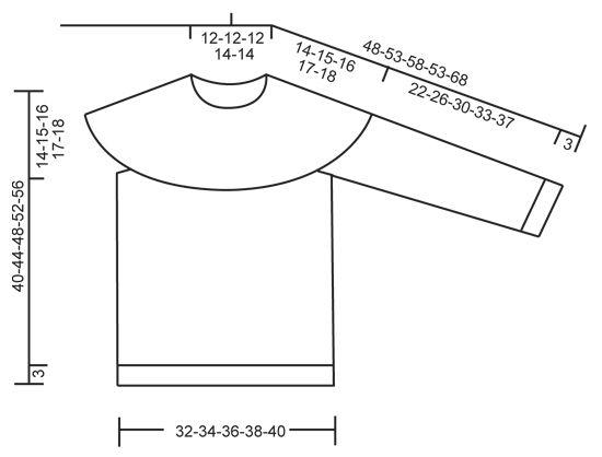 """David - Pull DROPS tricoté de haut en bas en """"Karisma"""" ou """"Merino Extra Fine"""" avec empiècement arrondi et jacquard norvégien. Du 3 au 12 ans. - Free pattern by DROPS Design"""