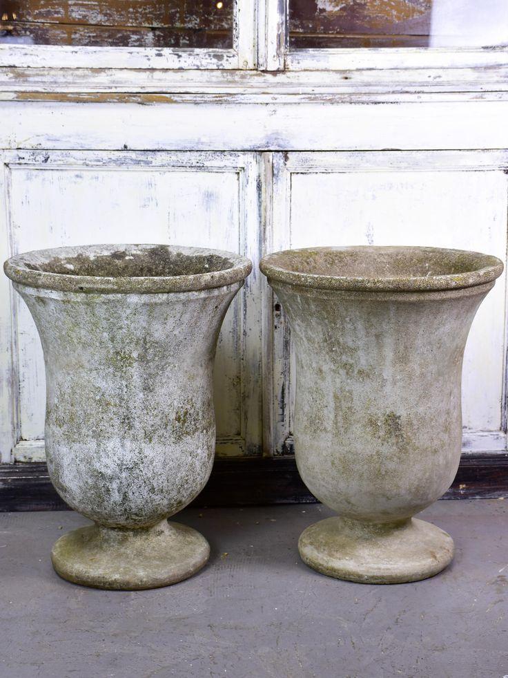 Pair Of Vintage French Garden Urns Franzosisches Vintage Vintage Gartengestaltung