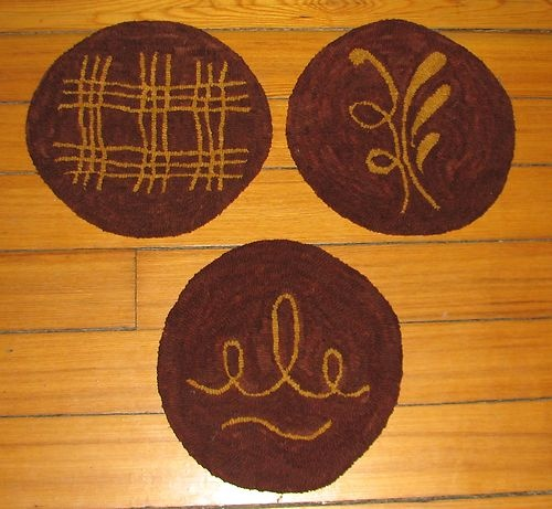 39 Best Rug Hooking Chairpads Images On Pinterest Chair