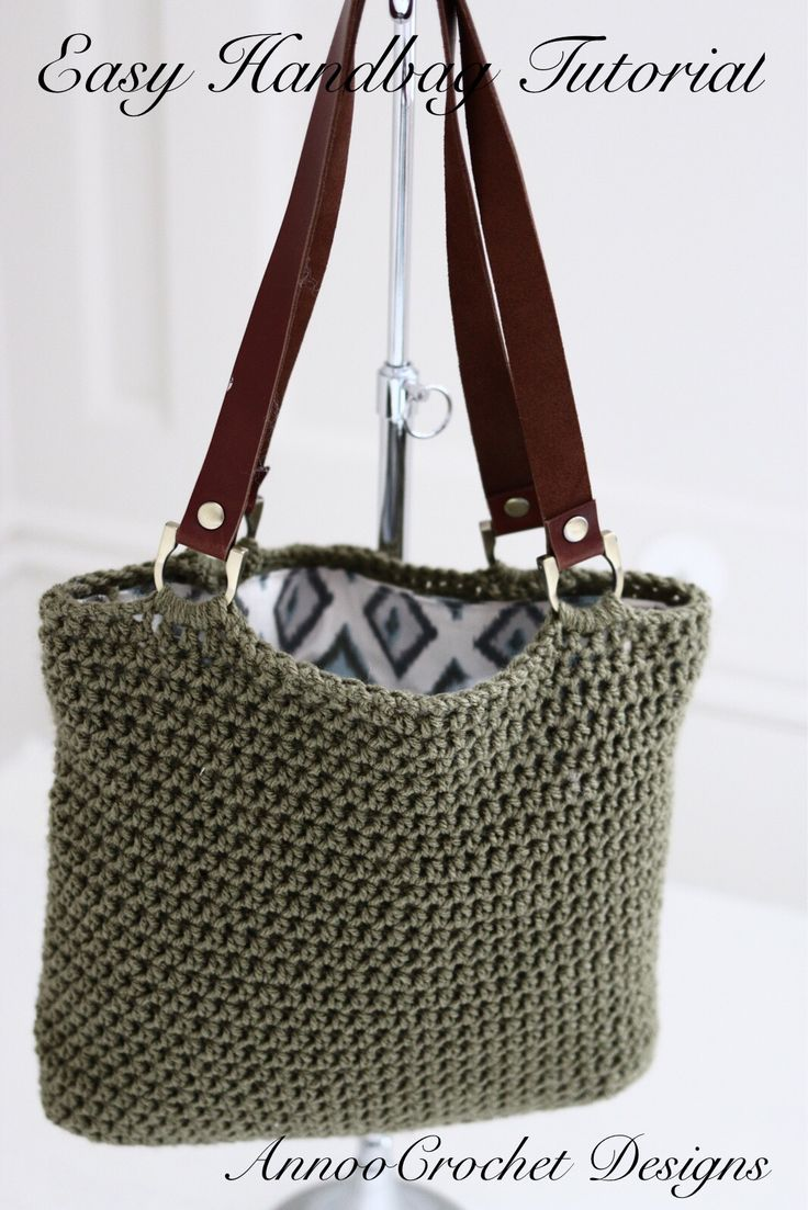 Easy To Make Crochet Handbag Video Tutorial By AnnooCrochet Designs ༺✿ƬⱤღ http://www.pinterest.com/teretegui/✿༻