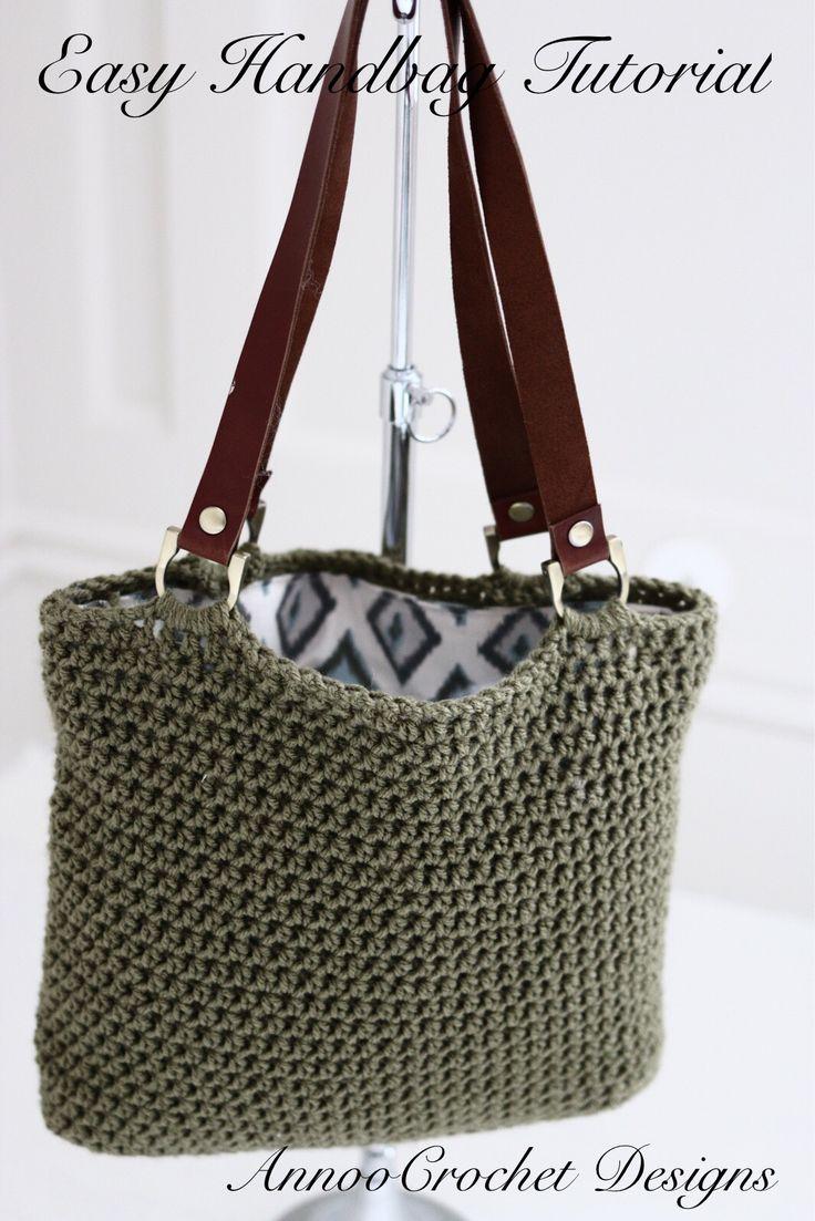 Easy To Make Crochet Handbag Video Tutorial By AnnooCrochet Designs ༺✿ƬⱤღ http://www.pinterest.com/teretegui/✿༻