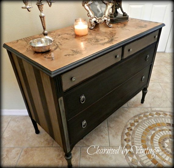 Antique Mahogany Old World Style Dresser by CharmedByVintage, $395.00