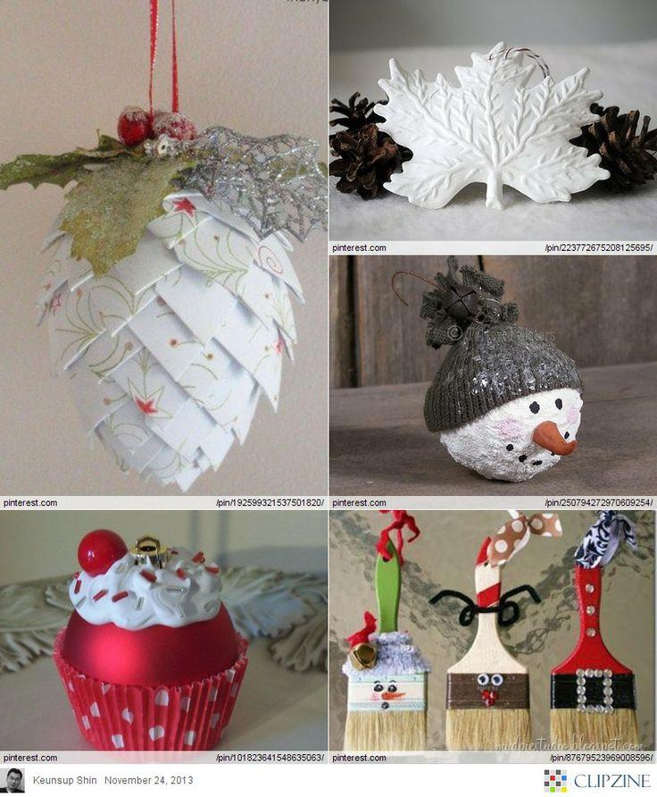 Christmas ornaments diy diy crafts ideas pinterest for Homemade christmas crafts pinterest