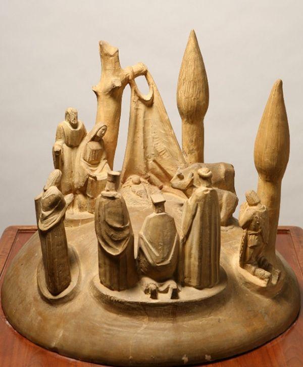 Arturo Martini, Epifania (presepio), 1926, terracotta, cm 50 x 52, Fondazione Domus per l'arte moderna e contemporanea