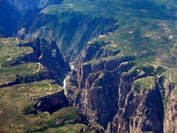 Part of Colorado two-week tour of the state in 1996 ... Black Canyon of the Gunnison National Park, Colorado