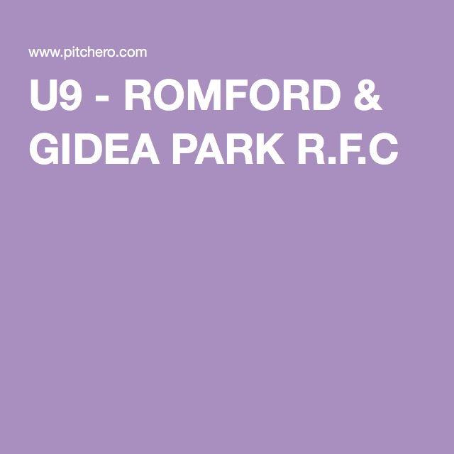 U9 - ROMFORD & GIDEA PARK R.F.C