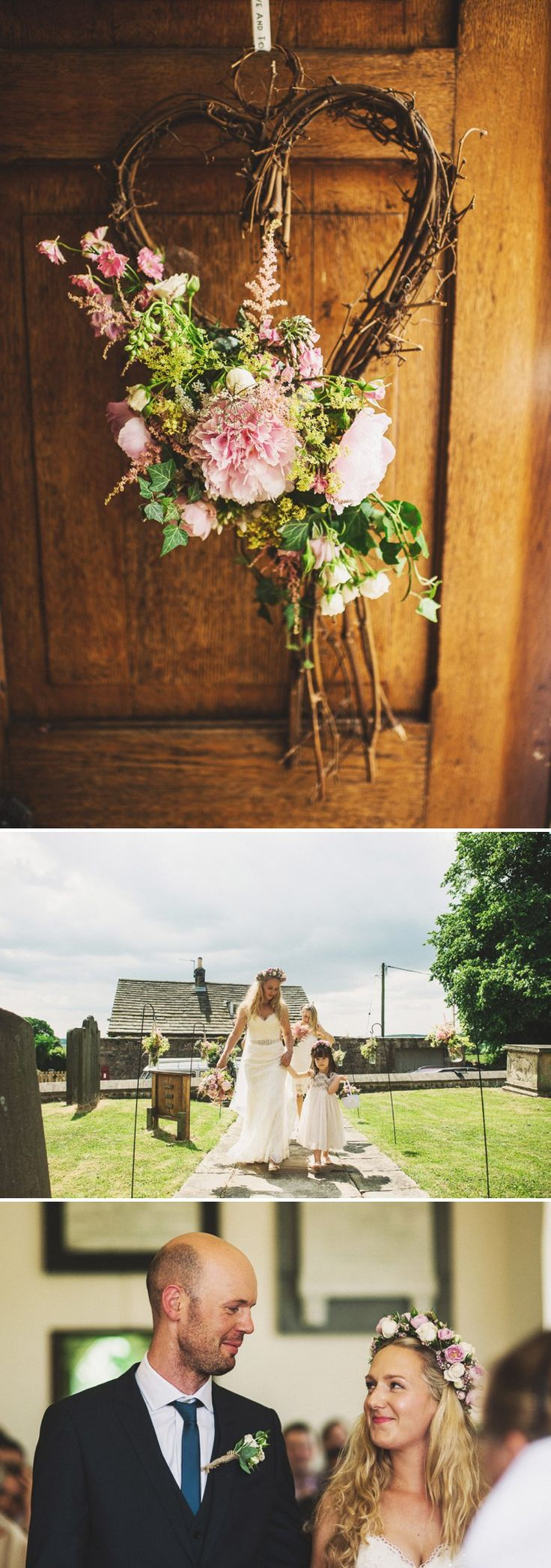Rustic Marquee Wedding At Mallard Grange In Yorkshire With A Dusty Pink Cream And Grey Colour Scheme With Bride In Gown From Eternity Bridal...
