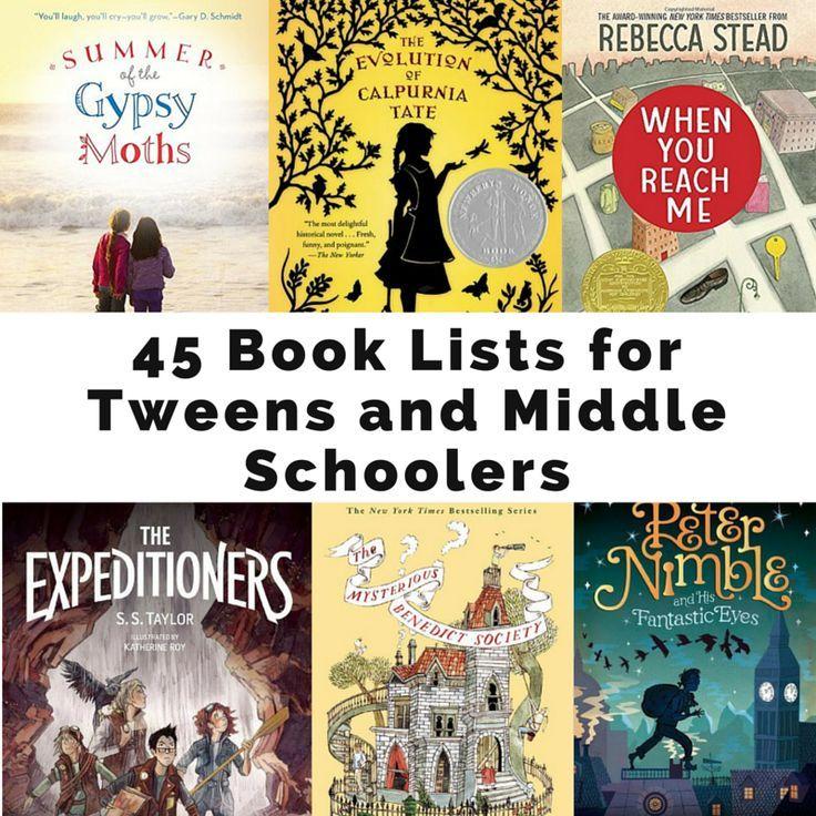 45 Book Lists For Tweens And Middle Schoolers Homeschool