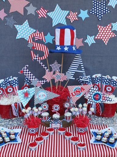find this pin and more on 4th of july memorial day decor - 4th Of July Decorations