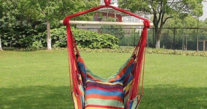*POPULAR* Hanging Rope Hammock Chair Swing Seat ONLY $36.99 Shipped (Retail $75)