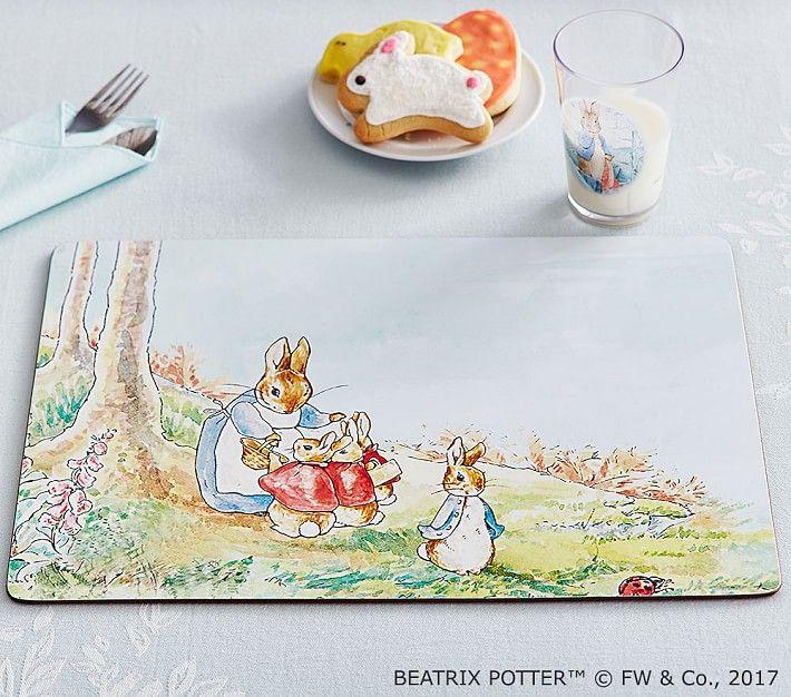 Beatrix Potter Cork Placemat Peter Rabbit Friends