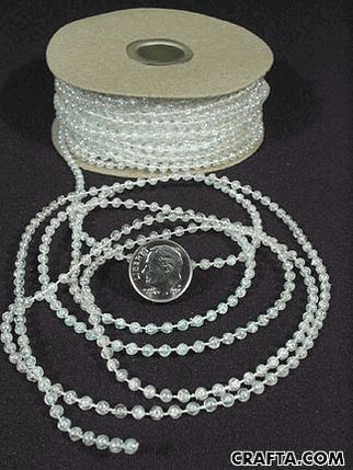 $1.39 for string of pearls to lay around centerpieces