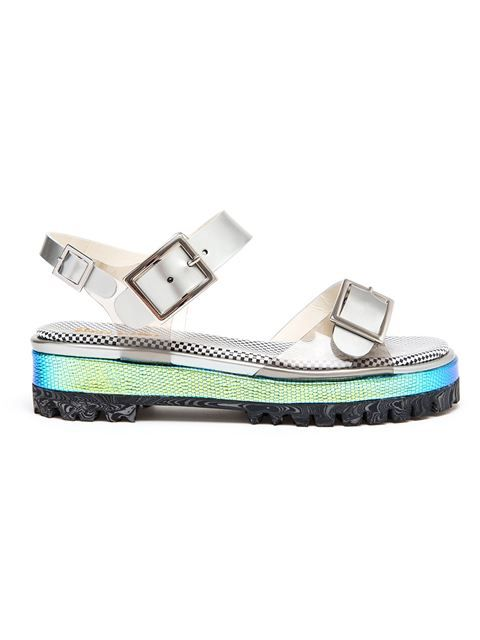 Shop Pollini Holographic Chunky Tread Sandal in Browns from the world's best independent boutiques at farfetch.com. Over 1000 designers from 60 boutiques in one website.