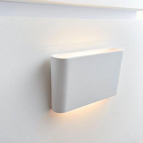 Buy John Lewis Linton LED Wall Light, White Online at johnlewis.com