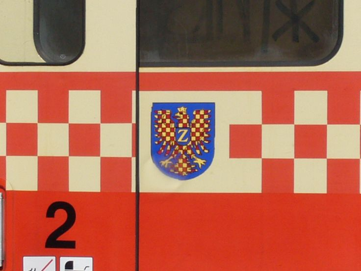 Coat of arms ot town Znojmo at 810 in station J emnice (south Moravia)
