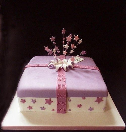 62 best gift box cakes images on pinterest box cake boxed cake pink and purple gift box cake negle Image collections
