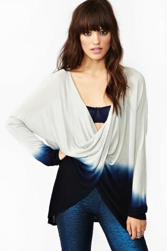 Twisted Dip Dye Top in Clothes at Nasty Gal