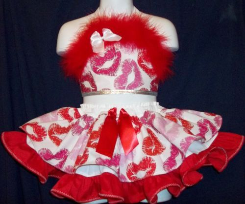 Custom National Valentine Kisses Pageant Casual Wear 2T 3T | eBay