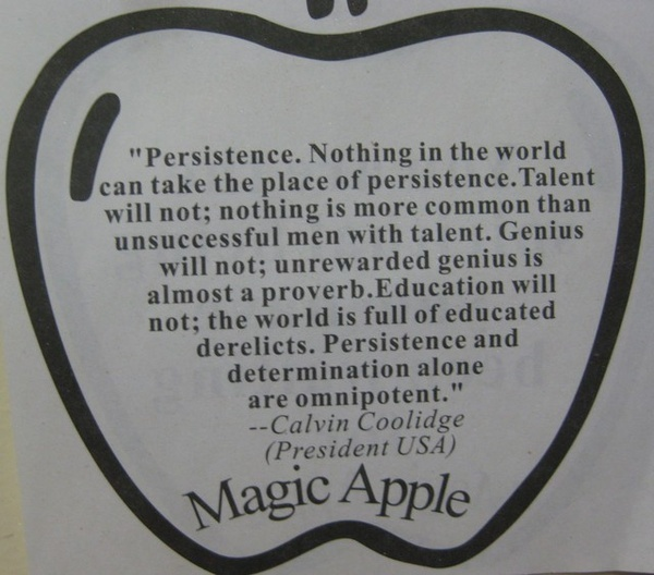 Calvin Coolidge Quotes Persistence: Calvin Coolidge Persistence