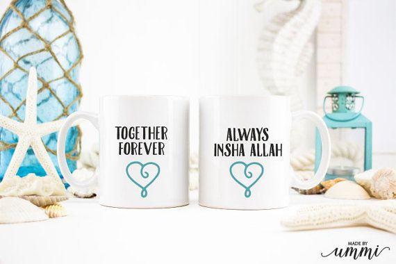 Samen voor altijd mok cadeauset moslim mok cadeauset, islamitische geschenken, koffie mok set
