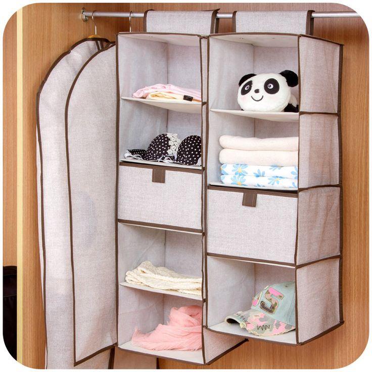 Главная минималистский белье шкаф хранения повесить сумку с несколькими три ящика чехол вешалками шкаф купить на AliExpress