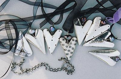 Jan Fryer Jewels: Unique handmade jewellery - charm bracelets, necklaces, brooches and earrings.